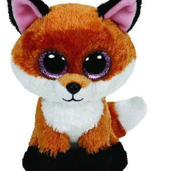 "Ty Slick The Fox 7"" Plush Beanie Boos Toy Doll TY"