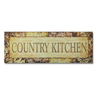 """Furnistar Decorative Wood Wall Hanging Sign Plaque """"Country Kitchen"""""""