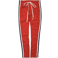 Taped Track Pants Red / Black / White