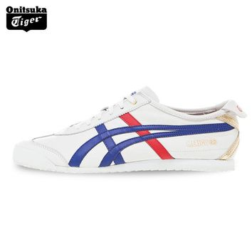 auguau 2017 ONITSUKA TIGER MEXICO 66 Men's Shoes Sneakers Breathable Leather Woman Sport Shoes Lightwei Trainers Athletic Shoes D507L