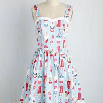 Flavor Fave Dress in Sky | Mod Retro Vintage Dresses | ModCloth.com