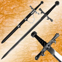 Premium Fighting Crusader Sword with Sheath - 36 inches