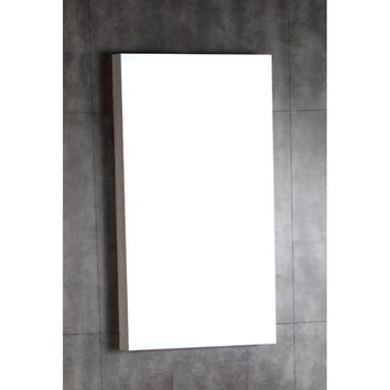 18 in. Wood framed mirror