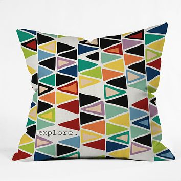 Sharon Turner Explore 1 Throw Pillow