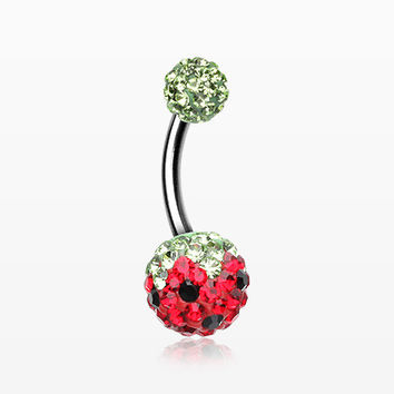 Pink Berry Multi-Gem Sparkle Belly Ring
