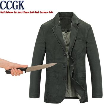 New 2018 Self-Defense Suit Security Anti-cut Anti-Sta Anti-Hack Blazer Military Stealth Defensa Police Personal Tactics Clothing