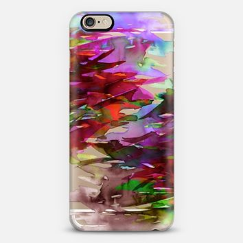 FERVOR 3 - Colorful Bold Abstract Watercolor Painting Black Grey Crimson Red Plum Purple Maroon Brushstrokes Floral Waves Whimsical Modern Transparent Art Rainbow Multicolor Nature Chic  iPhone 6 case by Ebi Emporium | Casetify