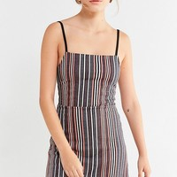 UO Cher Straight-Neck Mini Dress | Urban Outfitters