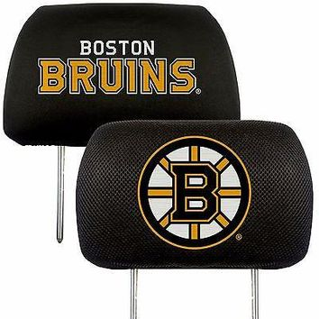Boston Bruins 2-Pack Auto Car Truck Embroidered Headrest Covers