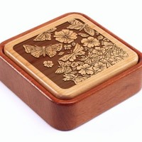 Flowers & Butterflies | Terra Box with Photo Flip Top | Heartwood