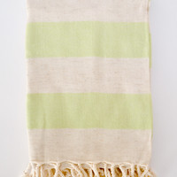 Organic Turkish Linen Towel - Lime