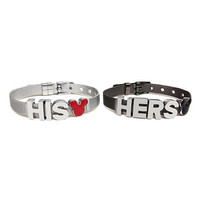 Mickey and Minnie Inspired His and Hers Couple Bracelet Set (Stainless Steel and Gunmetal)