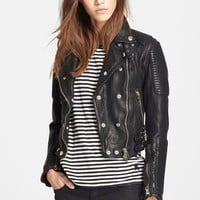 Burberry Brit 'Losley' Leather Moto Jacket