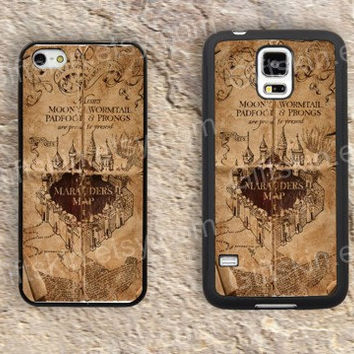 Harry Porter marauders map iphone 4 4s iphone  5 5s iphone 5c case samsung galaxy s3 s4 case s5 galaxy note2 note3 case cover skin 119