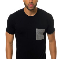 Contrast Pocket Crew Neck Tee