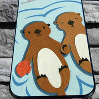 Otters Holding Hands for iPhone 4/4s/5/5S/5C/6, Samsung S3/S4/S5 Unique Case *95*
