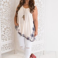 Josie Plaid Tank (Sand)