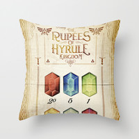 Legend of Zelda - Tingle's The Rupees of Hyrule Kingdom Throw Pillow by Barrett Biggers