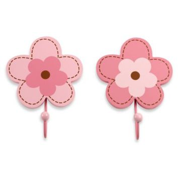 NoJo® Flowers 2-Pack Decorative Wall Hooks
