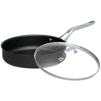 "Starfrit The Rock 11"" Deep Fry Pan With Glass Lid"