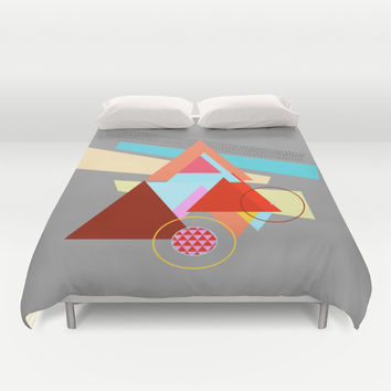 Triangles Duvet Cover by Haroulita