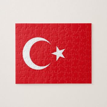 Puzzle with Flag of Turkey