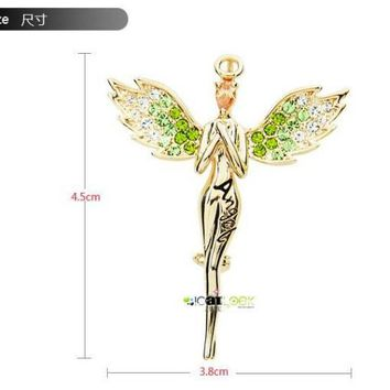 Beautiful angel brooch fashion rhinestone jewelry Clothing Accessories free shipping LM-B003