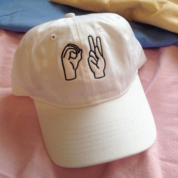 OK SIGN LANGUAGE Hat