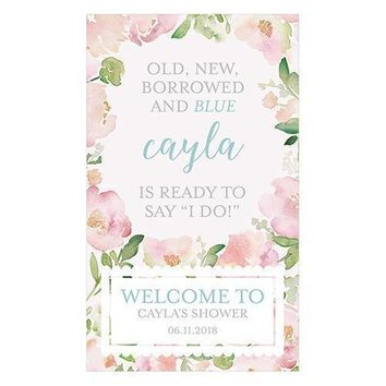 Garden Party Personalized Welcome Sign for Rustic Wood Frame (Pack of 1)