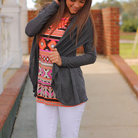 Hang Loose Cardigan, Charcoal