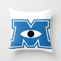 M (Monsters University) Throw Pillow by Sjaefashion