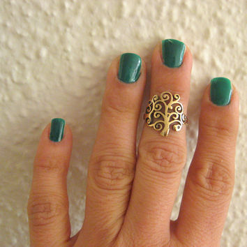 Life Tree - Fashion Knuckle Ring - Antique style  - Adjustable