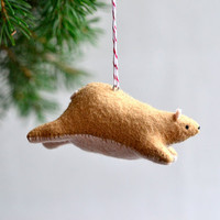 flying bear - christmas ornament