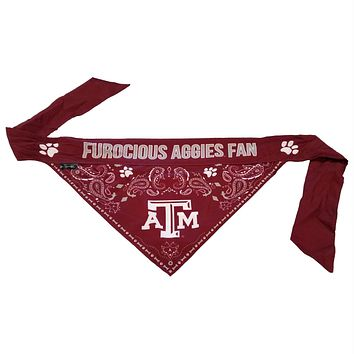 Texas A&M Aggies Pet Reversible Paisley Bandana