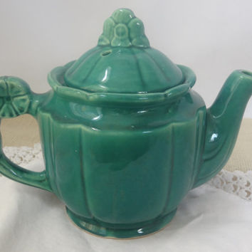 teapot ceramic green vintage coffee tea pot