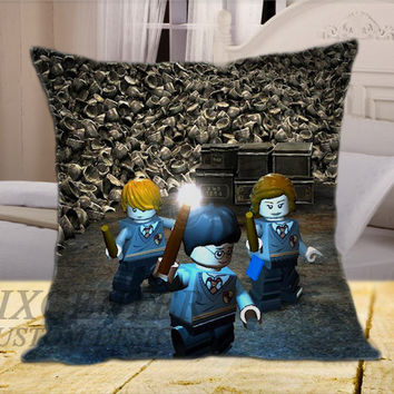 Lego Movie Harry Potter on Square Pillow Cover