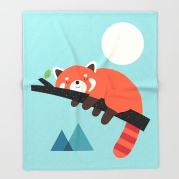Nap Time Throw Blanket by Andy Westface