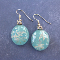 Turquoise Blue Earrings, Dragonfly Drop Earrings, Dragonfly Jewelry - Kendal - 2166 -3