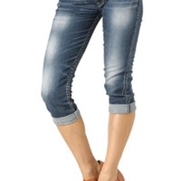 Silver Jeans Aiko Low Capri for Women L42801SSJ306