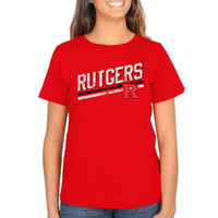 Rutgers Scarlet Knights Ladies Rising Bar Primary Classic Fit T-Shirt - Scarlet
