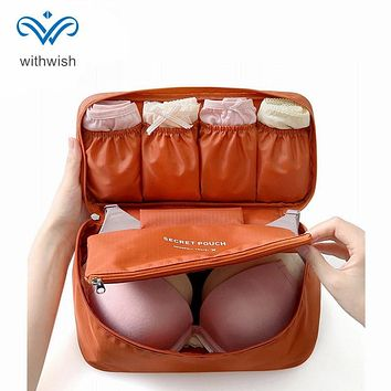 Waterproof Polyester Travel Bra Underwear Organizer Bag Multifunction Women Cosmetic Bag Men Toiletry Makeup Case Free Shipping