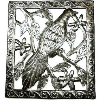 Handmade Single Bird Metal Wall Hanging Art Decor