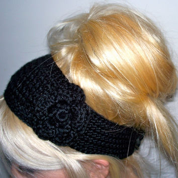Crochet Flower Headband/ Earwarmer - Pick your color