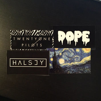 Twenty One Pilots Halsey Dope Starry Night Stickers