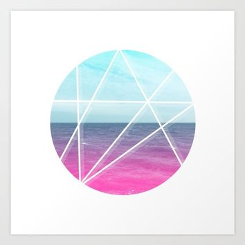 Sea Prism Art Print by Trevor May