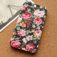 Vintage Floral Garden Fabric Phone Case