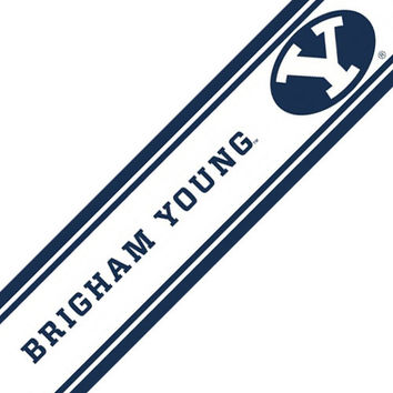 NCAA Brigham Young Cougars Accent Self-Stick Wall Border