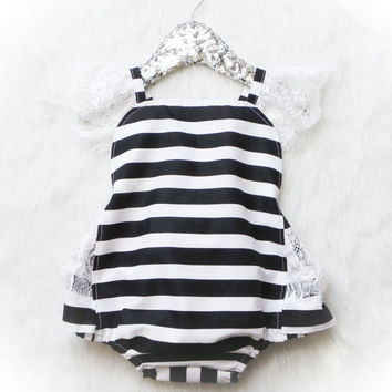 Paris Stripe Romper