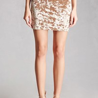 Crushed Velvet Mini Skirt