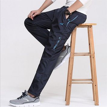 Men's Outside Casual Pants Quickly Dry Active Working Joggers Exercise Physical Trousers Male Sweatpants Pants Men Clothes 2018